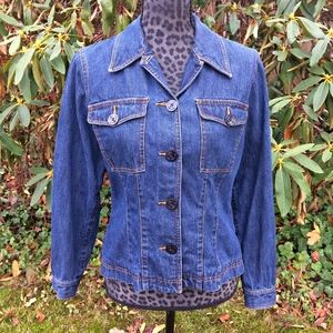 Liz Claiborne Dark Denim Jean Jacket